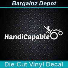 Vinyl Decal ... * HandiCapable * .. Car Laptop Peace Sticker Handicap Decal