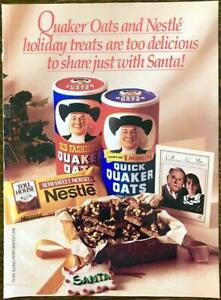 1992 Quaker Oats 8pg Magazine Tear-Out Insert Holiday Treats to Share With Santa