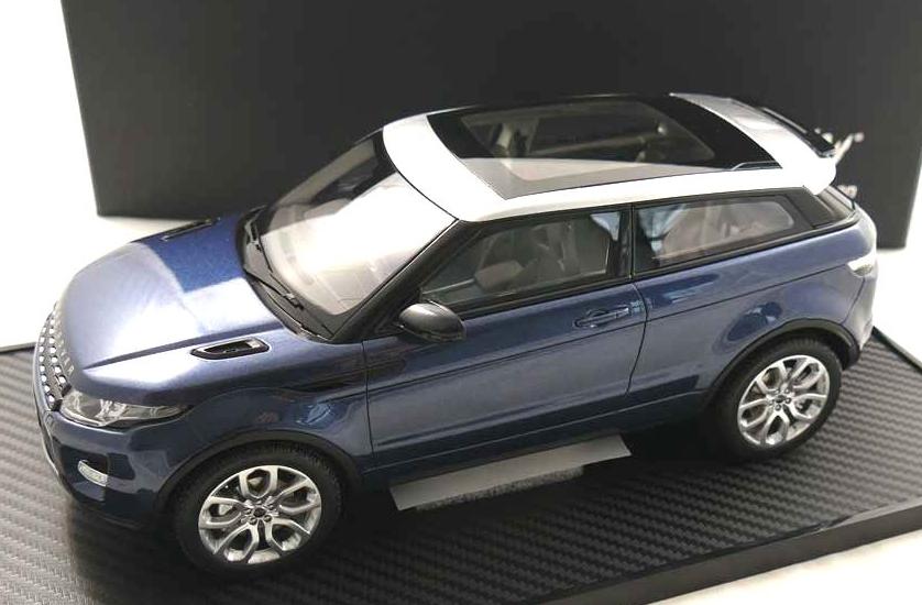 Range Rover font concessionnaire Modèle Résine Modèle Route Voiture Baltic Bleu 1 18th échelle