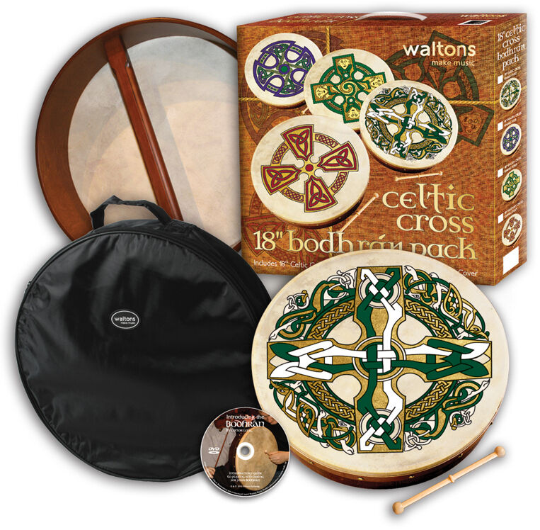 WALTONS 15  Celtic Gaelic Cross - PROFESSIONAL BODHRAN PLAYERS PACK 10AWAL-P2521