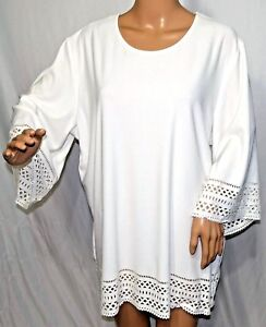 9c69fdbfc08 Southern Lady Women Plus Size 1x 2x 3x Ivory Off White Stencil Top ...