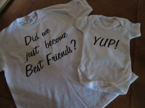 SET OF 2 items Did we just become best Friends ideal Gift T-shirts Vest,Bibs