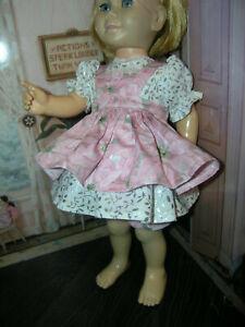 3-Pc-Set-Dress-Poinsettia-Apron-19-20-034-Doll-clothes-fit-Mattel-Chatty-Cathy