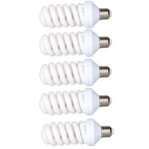 5X-45W-220V-E27-Photo-Studio-Daylight-Bulb-Continuous-Light-Lamp-Tricolor-Bulb