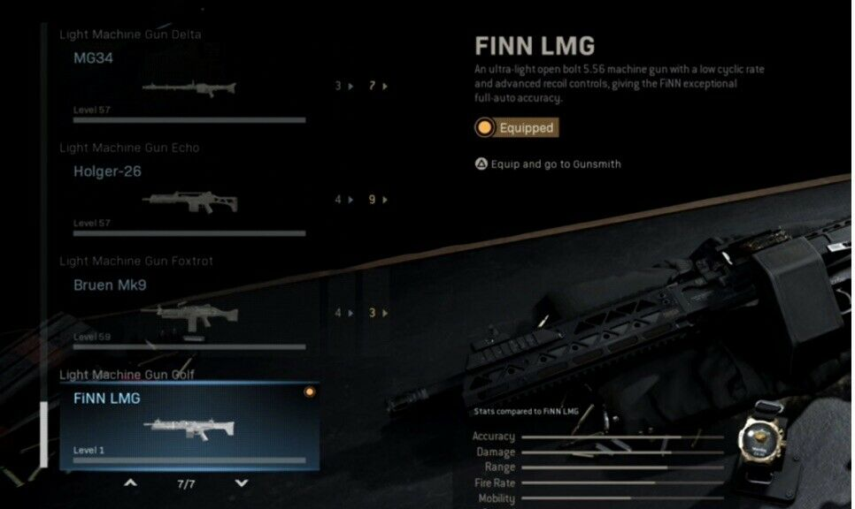 Call Of Duty MW Finn LMG (PS4) Season 5 New Weapon