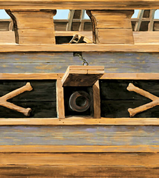 Papier peint pirates bordure galon Coque L  4,57 m h  68,6 cm vorgeleimt