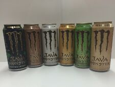 Monster Energy Drink Java 6 Cans Lot. Latest 2016 Flavors Full Or Empty.