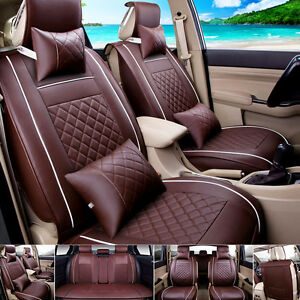 Image Is Loading Car Seat Cover PU Leather Front Amp Rear