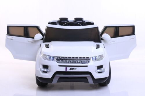 NEW WHITE CHILDRENS 4x4 SPORT STYLE 12V ELECTRIC KIDS CHILDS RIDE ON JEEP CAR