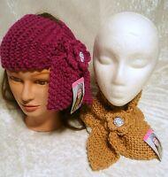 Winter Women Hairband Flower Crochet Headband Headwrap Knit Ear Neck Warmer