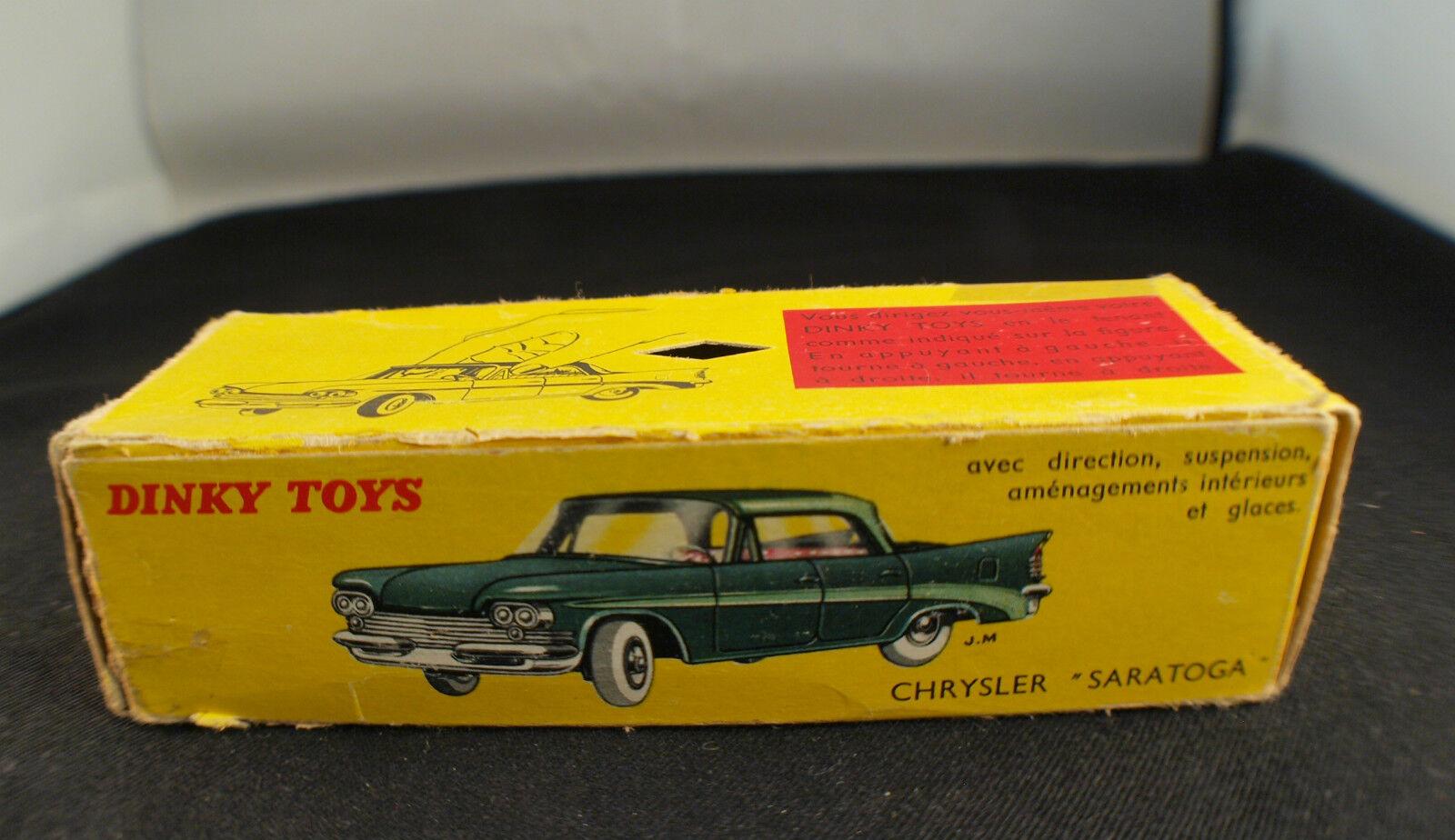 Schachtel Einzelstück Dinky Spielzeug F  550 Chrysler Saratoga Box Only