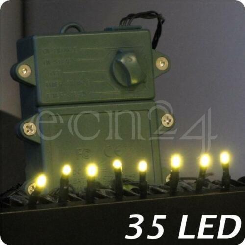 LED Lichterkette Leuchtkette Batterielichterkette mit Zeitschaltuhr 35 LED