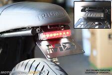 Triumph Scrambler Bonneville Thruxton Fender Eliminator w/ SMOKED LED Tail Light