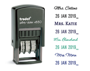 Details About Custom Teacher Stamp With Name And Date Custom Teacher Name And Date Stamp