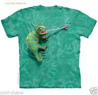 Funny Chameleon T-shirt/wild Green Tie Dye Tee,lowbrow,lizard,gecko,psychedelic