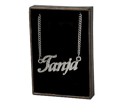 "Name Necklace ""TANJA"" –18K Gold Plated 