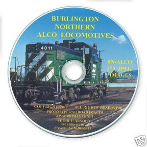 Burlington-Northern-ALCO-Locomotives-Slides-on-Photo-CD-BN-SP-amp-S-NP