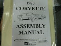 1980 Corvette (all Models) Assembly Manual