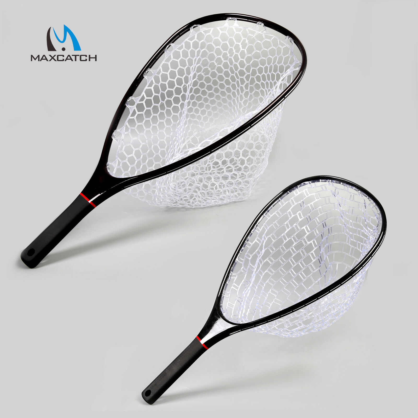 Maxcatch Fly Fishing Landing Net Carbon Frame Clear Rubber Net Nomad Hand