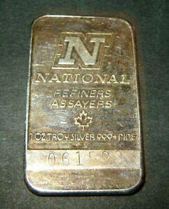 National-Refiners-Assayers-1-Troy-OZ-999-Fine-Silver-Bar-SN-061523