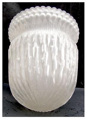 Relief weißlich satiniert matt Lampenschirm im Jugendstil Ersatzglas 8