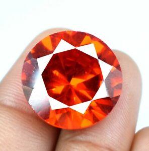 100% Natural Round Padparadscha Orange Sapphire 37 Ct Gemstone Certified A34821