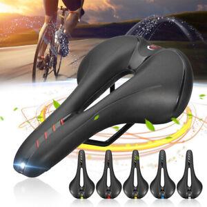 New Cycling Bicycle Saddle PU Leather Hollow MTB Road Bike Racing Seat Cushion