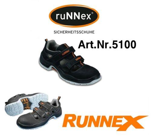 Sicherheitsschuhe BGR 191 ; Sandale 20345 RuNNEX S1 Gr.43 Sicherheitssandale