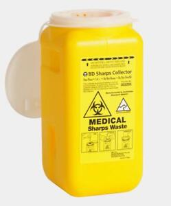 BD-SHARPS-COLLECTOR-WASTE-BIN-CONTAINER-SHARP-1-4L-SYRINGE-NEEDLE-DISPOSAL