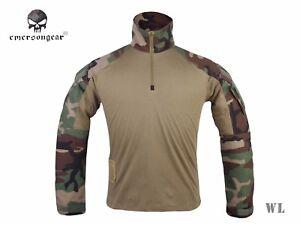 Emerson-Combat-Gen3-Shirt-Airsoft-Hunting-Military-Tactical-BDU-Shirt-Woodland
