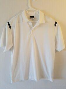 White-Men-039-s-Nike-Golf-Dri-Fit-Short-Sleeve-Polo-Shirt-Large