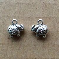 PJ290B 100pc Tibetan Silver elephant Charm Beads Pendant accessories wholesale
