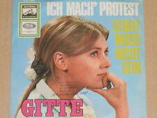 """GITTE -Ich mach' Protest- 7"""" 45"""