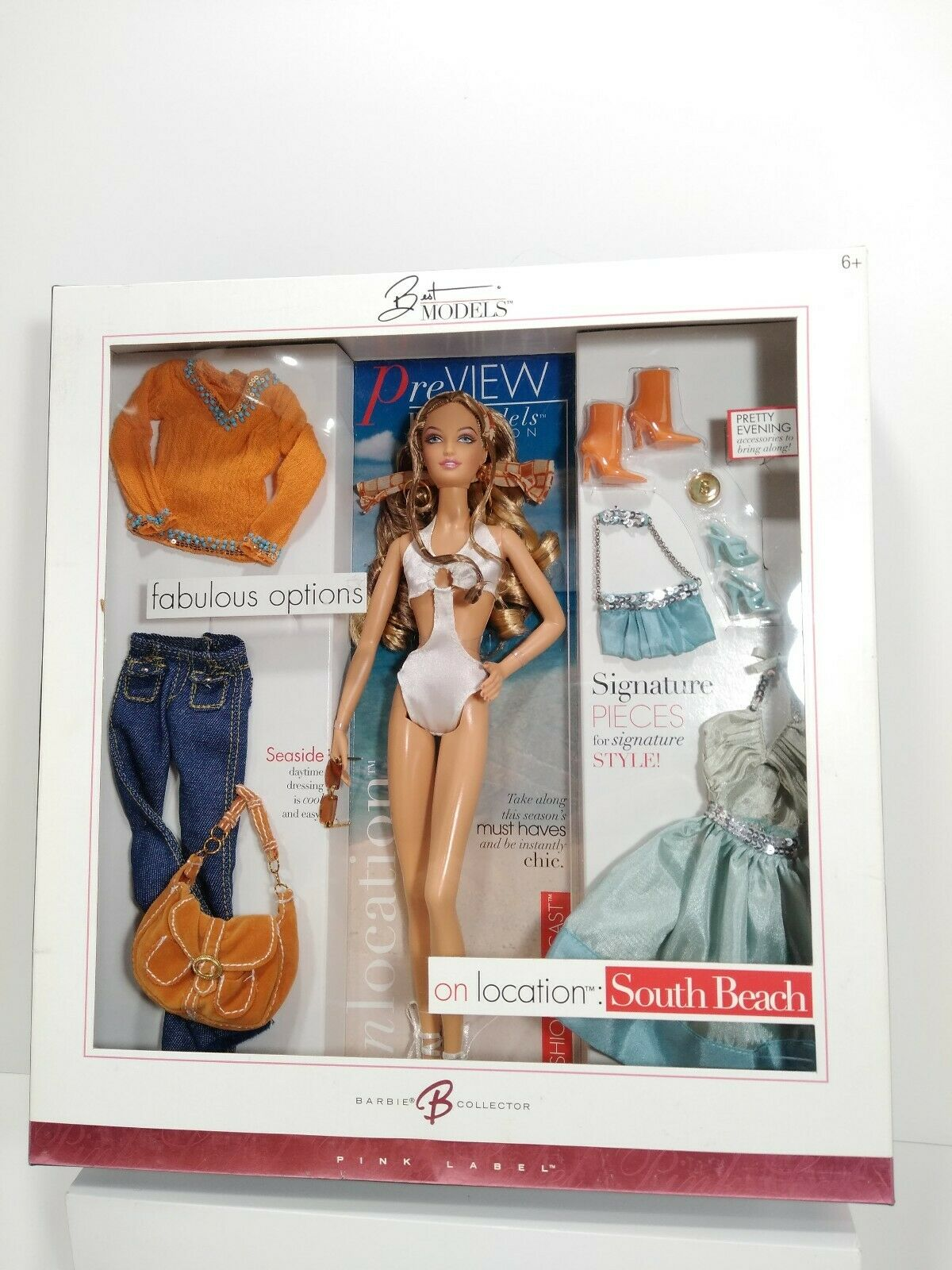 2005 South Beach Barbie Doll on Location Best Models Gift Set Model Muse