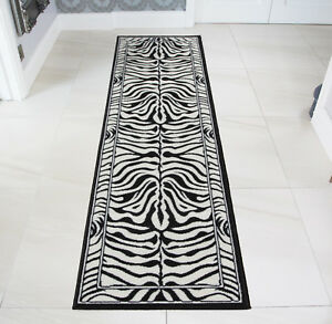 Image Is Loading Black Ivory Zebra Animal Print Hall Runners Soft