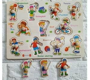 Party-Sports-Wooden-Peg-Puzzle-Educational-Toy-Gift-jl1
