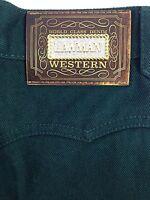 Lawman Rodeo Jeans Sz 3 Long Slim Fit Green High Waist 24 X 36 Western