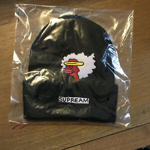 e71c0a94960 Supreme FW17 Gonz Ramm Beanie BLACK New Era Box Logo S Logo Camp Cap ...