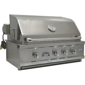 Sole Luxury 30-Inch Built-In Natural Gas Grill With Rotisserie