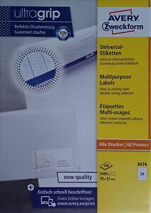 AVERY Zweckform 3474 Etiketten INTERNETMARKE 70 x 37 mm weiß Menge nach Auswahl