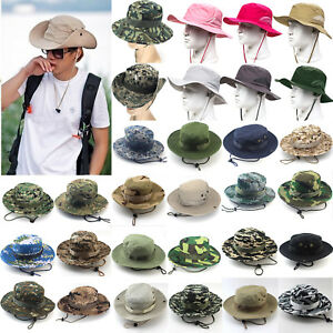 Image is loading Bucket-Hats-Boonie-Hunting-Outdoor-Wide-Brim-Camo- d2b2cbb29967