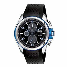 Citizen Eco-Drive Men's CA0421-04E Chronograph Blue Accents Poly Strap Watch