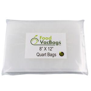 100-Quart-8x12-FoodVacBags-Honeycomb-Embossed-Vacuum-Sealer-Bags-for-FoodSaver