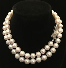 Estate Mikimoto Rare Vintage Akoya 7-6.5 MM 18  IN Necklace SS #17023