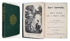 c 1870 ROGER'S APPRENTICESHIP or FIVE YEARS OF A BOY'S LIFE Emma Marshall 2nd Ed