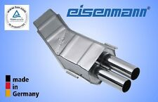 Eisenmann bmw e34 530i 535i 2x70mm acero inoxidable endschalldämpfer * el original! *