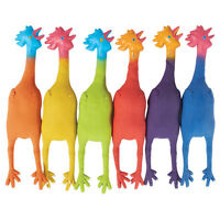 6 Color Rubber Chickens on sale