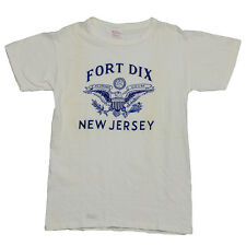 Fort Dix Shirt vintage tshirt 1950s work wear WW2 New Jersey US Military Rare