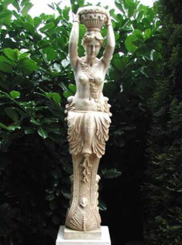 Säule Galionsfigur Statue Kore Figur Gartenfigur Karyatide 131cm  St03-2-a