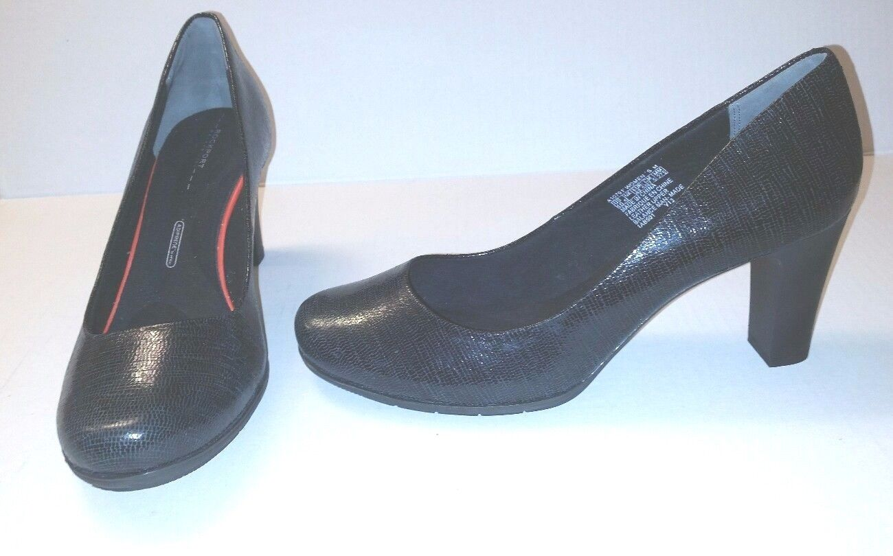 ROCKPORT Womens Walkability Total Motion Sz 10.5M Black Heels Adiprene by Adidas